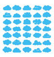 blue cartoon clouds set vector image