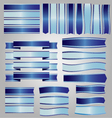 Blue ribbons and banners vector image vector image