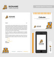 business brochure design with orange theme and vector image