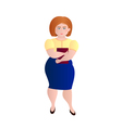 Business fat girl vector image vector image