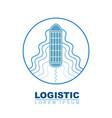 cargo ship logo transportation logistic concept vector image