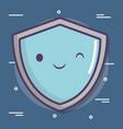 cartoon shield icon vector image
