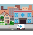 Cartoon Street Hospital Stylish Background Retro vector image vector image