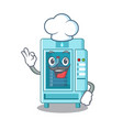chef water vending machine in a character vector image vector image