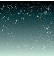 christmas night snowfall sparkle abstract vector image vector image
