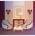 Classic Home Interior of Living Room vector image vector image