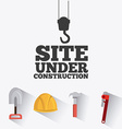 Construction digital design vector image vector image