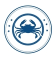 crab delicious seafood menu icon vector image
