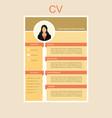 cv for women vector image