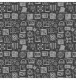 Dark e-learning seamless pattern vector image