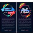 discount sale 15 black friday vector image vector image