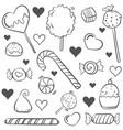 doodle of candy style hand draw vector image vector image