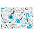ecology doodle set vector image vector image