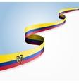 Ecuadorian flag background vector image vector image
