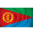 Flag of Eritrea vector image vector image