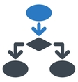 Flowchart Icon from Commerce Set vector image