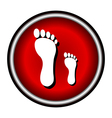 footprints icon vector image