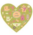 Garden heart vector image vector image