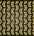 geometric seamless golden pattern vector image