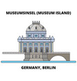 germany berlin museum island line icon concept vector image vector image