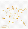 golden confetti ribbons isolated on a transparent vector image vector image