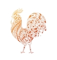 Golden Rooster symbol 2017 vector image vector image