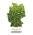 green leaf map of germany vector image vector image