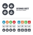 Helping hands icons Medical health insurance vector image vector image