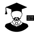 icon graduation teacher tutor graduation icon vector image