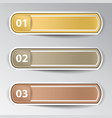 infographic horizontal badges with number vector image vector image