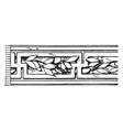 laurel fret band is a pattern that has laurel vector image vector image