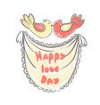 lettering happy love day stylized large letters vector image vector image