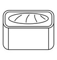 maguro sushi roll icon outline style vector image vector image