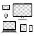 modern technology devices with transparent vector image vector image