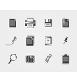 Office iconsBlack icons vector image vector image
