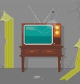 Old TV in Old House vector image