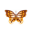 original flat icon wonderful butterfly vector image vector image