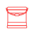 outline paint bucket object drawing graphic vector image