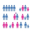 people logo design template family or vector image vector image