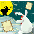 polar bear christmas card vector image