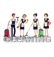 Poster design for cleaning service vector image vector image