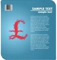 pound sterling sign design vector image