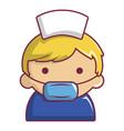 pregnant nurse icon cartoon style vector image vector image