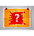 Question mark sign icon Help symbol Twice a vector image vector image