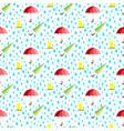 rainwater umbrella rubber boot rain seamless vector image vector image