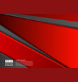 red and black geometric abstract background with vector image vector image