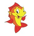 Red Yellow Fish vector image vector image