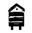 retro wooden bee hive icon stamp for honey vector image vector image