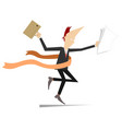 running businessmen wins in business isolated on w vector image
