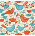 Seamless pattern with cute birds vector | Price: 3 Credits (USD $3)